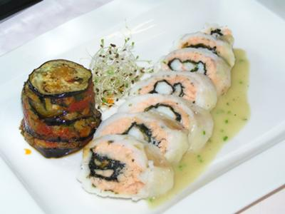 Fish roll with Parmiggiana