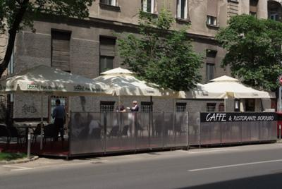 Outside of the restaurant (terrace)